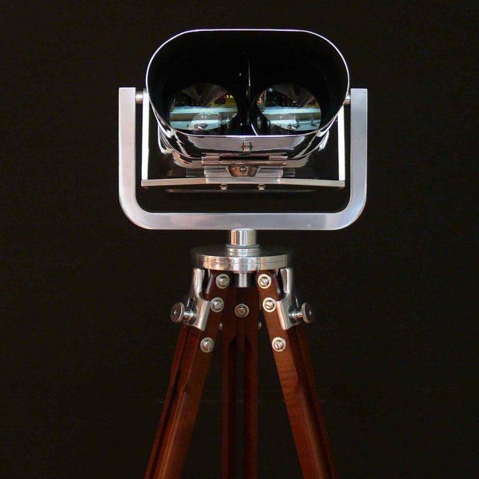 1940s French aluminium binoculars, £11,500, from Bentleys